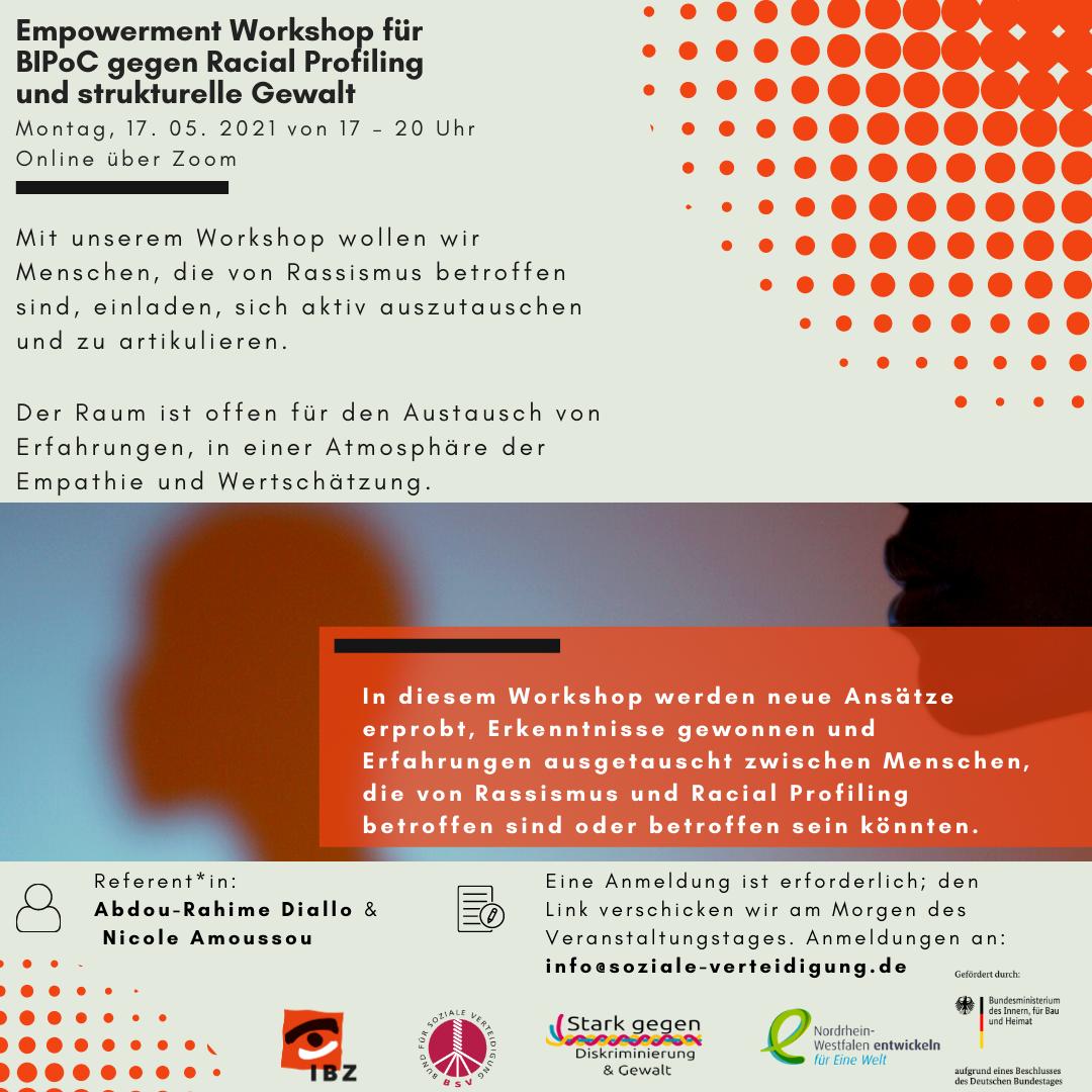 Empowerment Workshop für BIPoC gegen Racial Profiling und strukturelle Gewalt